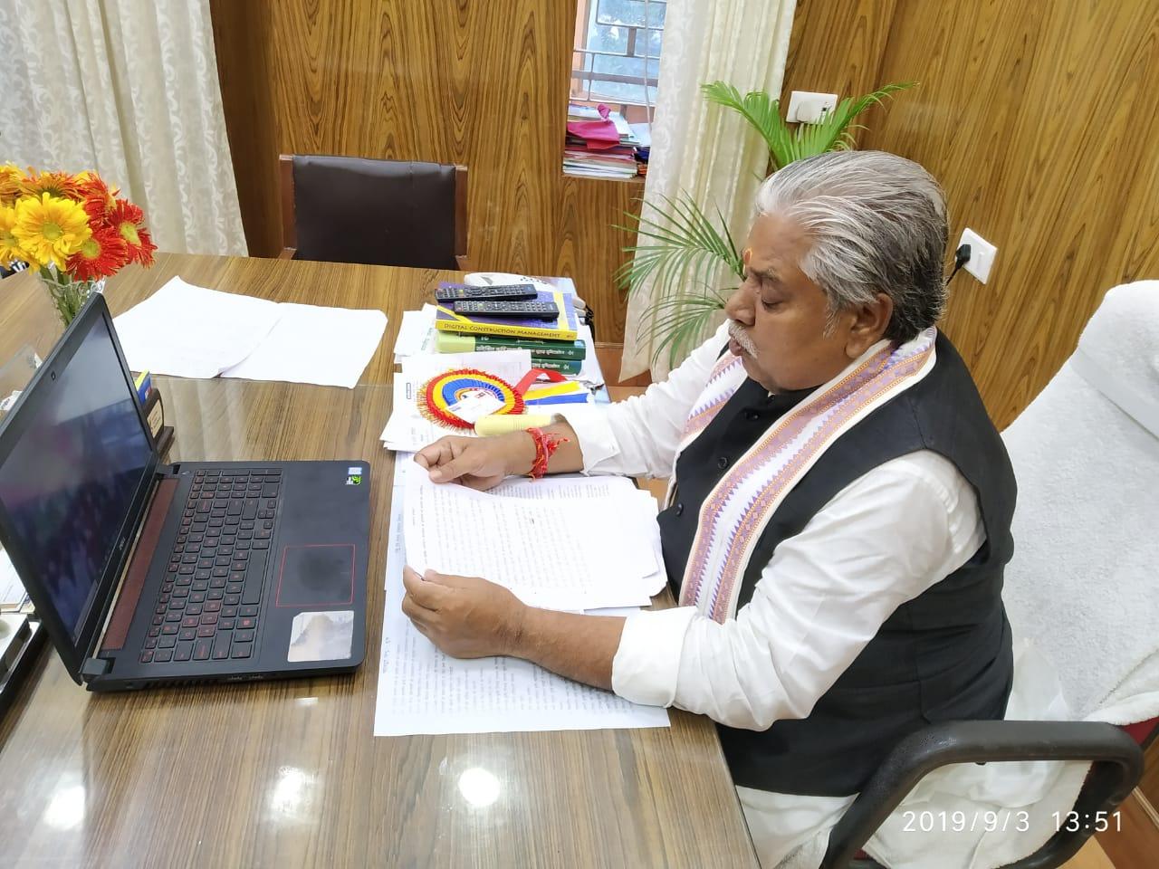 कृषि मंत्री डॉ प्रेम कुमार ने जल सरंक्षण परियोजना की शुरुआत की - Swatva  Samachar