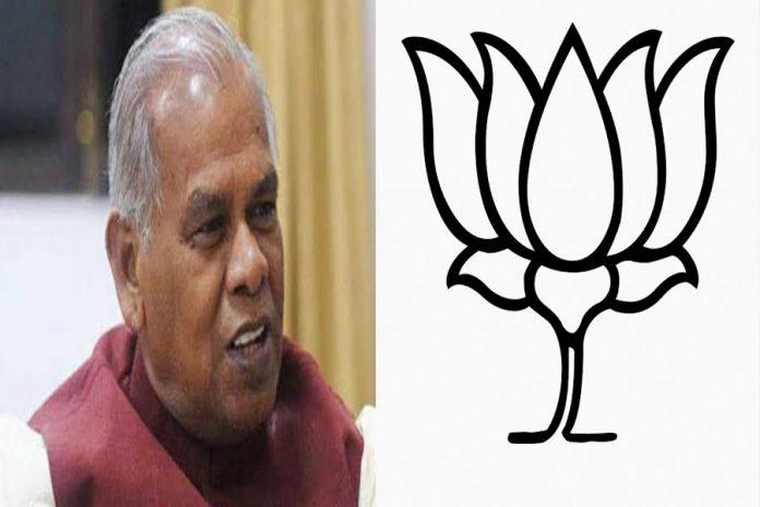 jitan ram manjhi & BJP Logo